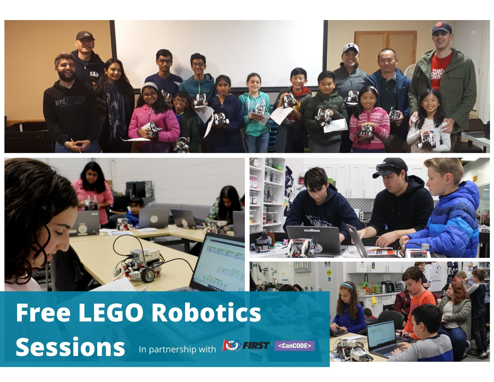 Free LEGO Robotics Drop-in Sessions in Partnership With FIRST Robotics Canada