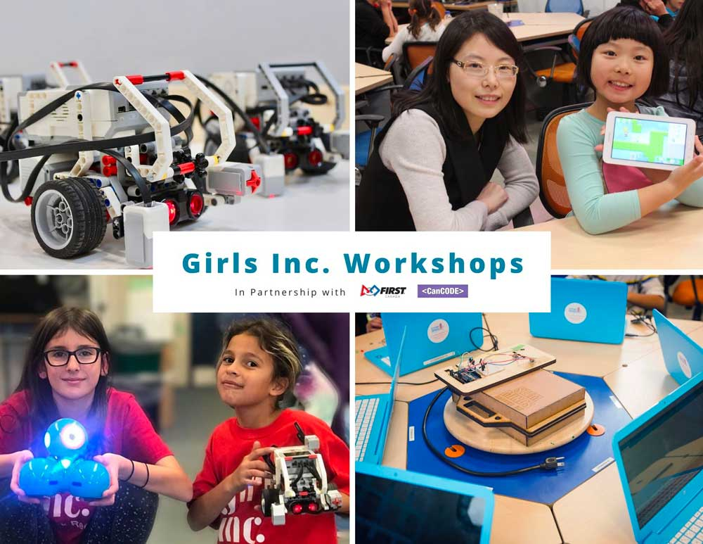 Free Girls Inc. Workshops in Partnership with FIRST Robotics Canada